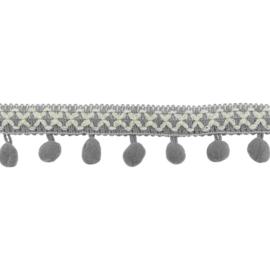 Bolletjesband | Cross - Grijs  31618