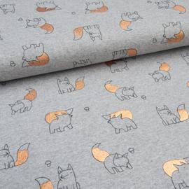 tricot print   vosje   foil print koper