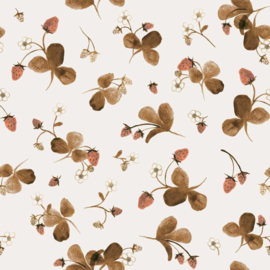 Family Fabrics | Tricot Print | Red Stawberries