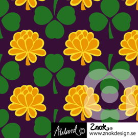 Znok tricot print | Clover | Yellow - Purple