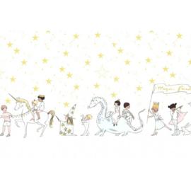 Magical parade on minky  SML7188-WHIT-D    plush -Sarah Jane