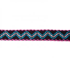 ibiza band zwart/ 3 cm breed