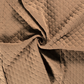 Double Gauze - Mousseline Quilted | Taupe 153