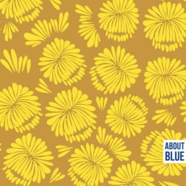 About Blue Fabrics |  French Terry | Let me be a Sunflower