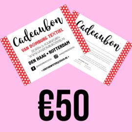Cadeaubon - Vijftig euro