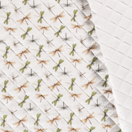 Double Gauze - Mousseline Quilted | Dragonflies