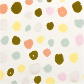 Tricot print | Dots - Rico Design | off white - yellow- mint