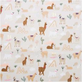 Katoen met hot foil   Alpaca   Rico - design