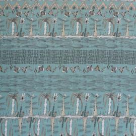 voile katoen | trees and birds - mint green | mona | Swafing