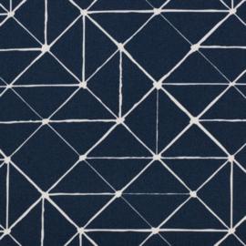 Katoen Print | Swafing -  Geometric  - Dark Blue