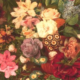 Velvet de luxe | Lila - interieurstof | Flowers | Red - Pink