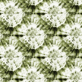 Katoen Poplin Print |  Tie Dye  - Green