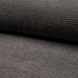 Jersey Corduroy | Dark grey melange - 068