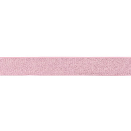 glitter elastiek | 25 mm | roze
