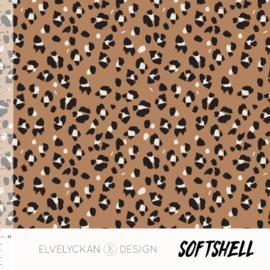 Elvelyckan design | Soft Shell  | Animal Skin - Caramel    | Oeko tex