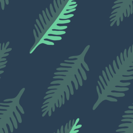 About Blue Fabrics |  French Terry | Wonders of Life - Leaf