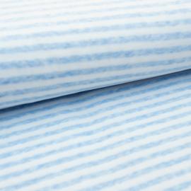 Nicky velours - Stripe    White - Light Blue