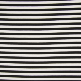 Punta di Roma | Stripes medium  | zwart - wit