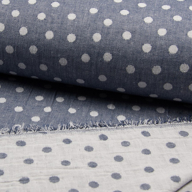 Jaquard Double Face | Dots  - Jeans