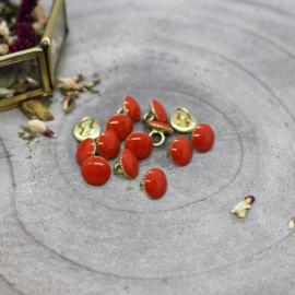 Atelier Brunette | Gem Buttons - Tangerine -  9 mm