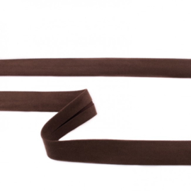 Suede Biaisband   Donkerbruin