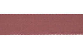Tassenband Katoen |  Oudroze  | 4cm breed