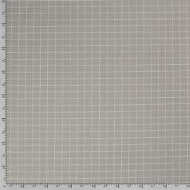 Decostof   Linnenlook - Ruit - Grey