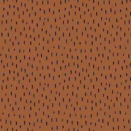 Gots Tricot Print | Stripes - Rust