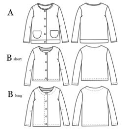 Ikatee |Vic unisex Cardigan - Kids 3/12Y - Paper Sewing Pattern