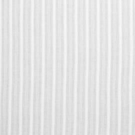 Katoen met ingeweven streep - White