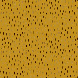 Gots Tricot Print | Stripes - Ochre