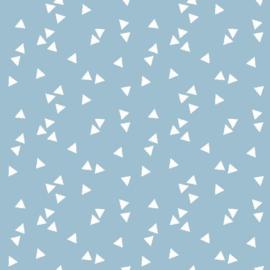 katoen print | triangel | lichtblauw