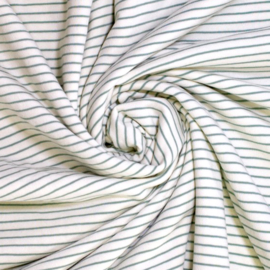 Badstof Stretch | Streep  - Groen