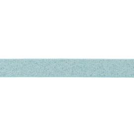 glitter elastiek | 25 mm | mintgroen