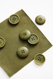 Mind the Maker | Blaze Corozo Button - 20 mm - Olive Green
