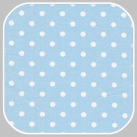 katoen Dot | S | lichtblauw