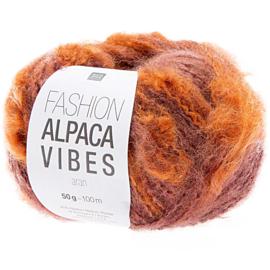 Fashion Alpaca Vibes Aran | Purple - Orange