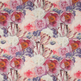 Tricot Digitaal   Roses - Pink - Lilac
