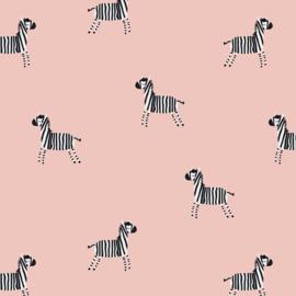 Tricot Print | Zebra - Pink