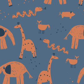 About Blue Fabrics | Tricot | Let's Get Lost - Into The Zoo