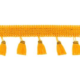 Flosjesband Uni - Okergeel