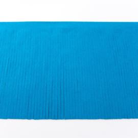 Suedine franjeband |  turquoise 28010 | 12 cm breed