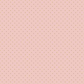GOTS Tricot Print | Dots - Pink