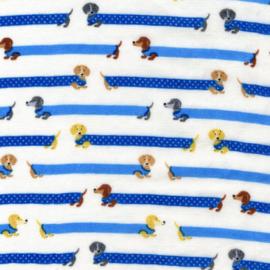 Kokka Fabrics | Double Gauze - Dachshund - Blue