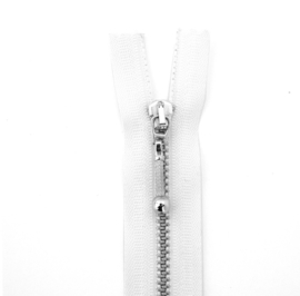 Rits metaal   15cm - Wit