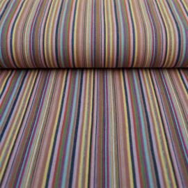 Decostof |  Mexicaans multicolor lila - oker  streep