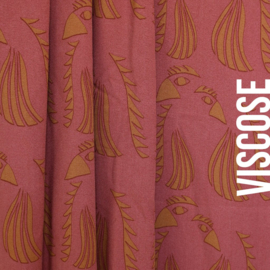 About Blue Fabrics | Crepe Viscose | Wonders of Life - Parrot Red