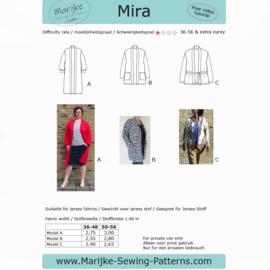 Marijke Sewing Patterns - Mira - Maat 36-56