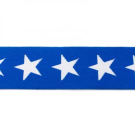 elastiek band- ster hard blauw/ 4 cm