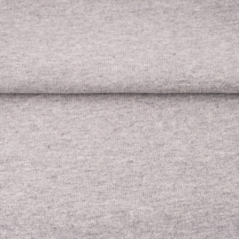 tricot boordstof melange | lichtgrijs